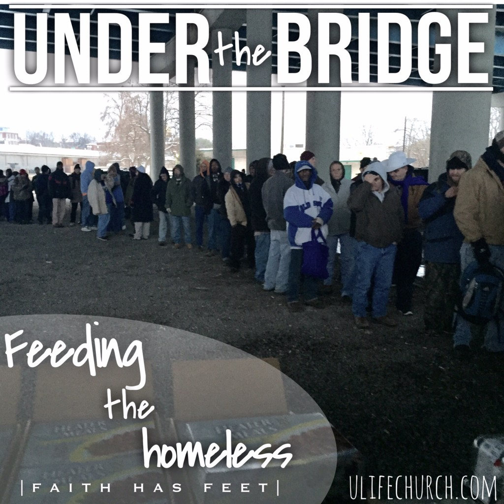 Serving the homeless under the bridge in Knoxville, TN.